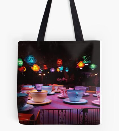Alice In Wonderland Tea Cups Tote Bag