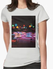 Alice In Wonderland Tea Cups Womens Fitted T-Shirt