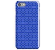 Benzene Rings (Cobalt) iPhone Case/Skin
