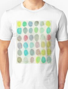 Yellow, Green, Red Spots Unisex T-Shirt