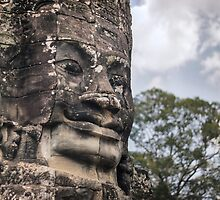Face of The Bayon by Nicolas Noyes