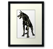 Black Beast Framed Print