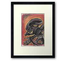 """Tribute to HR Giger""  Framed Print"