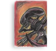"""Tribute to HR Giger""  Canvas Print"
