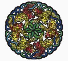Koi Mandala - Nature Meditation - Water Jewel Kids Tee