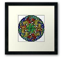 Koi Mandala - Nature Meditation - Water Jewel Framed Print