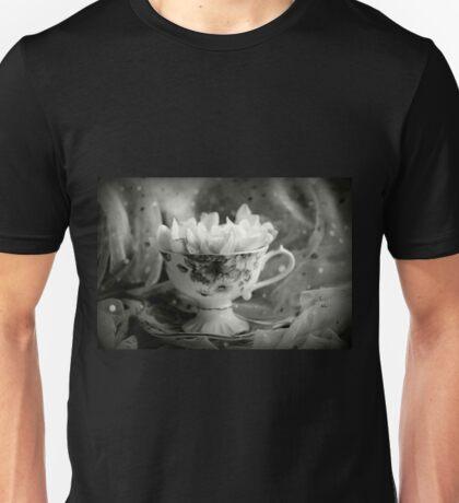 Tea Cup, Lace & Frangipanis Unisex T-Shirt