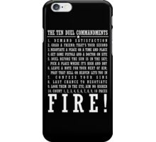 Ten Duel Commandments - Dark iPhone Case/Skin