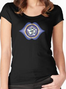 Ajna Chakra (AUM Vibration) Women's Fitted Scoop T-Shirt