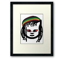 Rasta Cat Framed Print