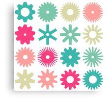 Cogs - Colors 01 Canvas Print