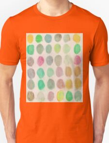 Orange, Green and Red Spots Unisex T-Shirt