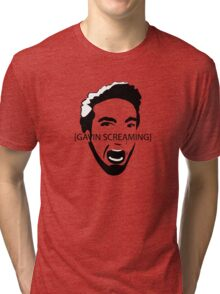 Gavin Screaming T-shirt Tri-blend T-Shirt
