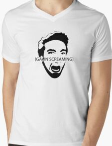 Gavin Screaming T-shirt Mens V-Neck T-Shirt