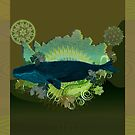 Exhuberant Whale - green by DreaMground