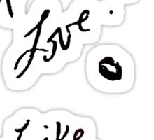 Spread love like legs Sticker