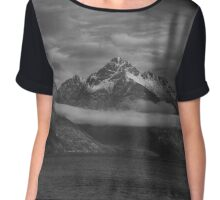 Sailing under the Mountains Chiffon Top