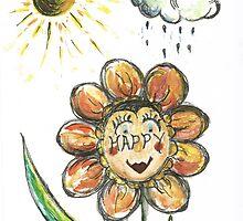 Happy Flower by Teresa White