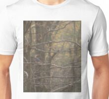 Autumn Woodlands with Bluebird Unisex T-Shirt