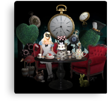 Alice In Wonderland Collage Canvas Print