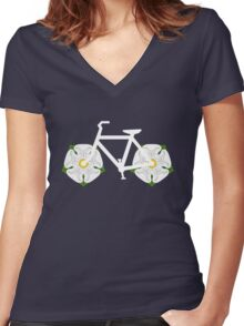 Ride Yorkshire! Women's Fitted V-Neck T-Shirt
