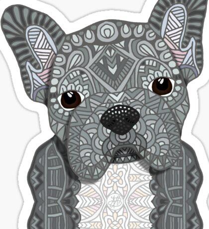 Gray Frenchie 001 Sticker