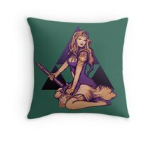 Zelda Pinup Sticker Throw Pillow