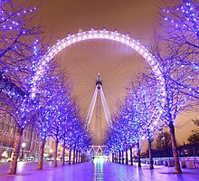 London Eye Christmas by Adam Gormley