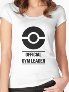 Official Gym Leader Brand Women's Fitted Scoop T-Shirt