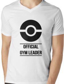 Official Gym Leader Brand Mens V-Neck T-Shirt
