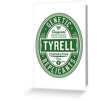 Tyrell Corporation Greeting Card