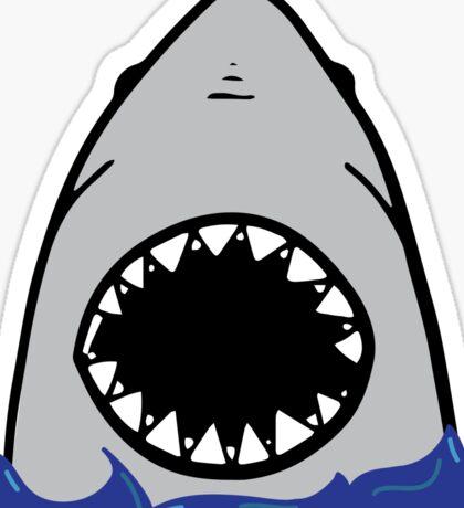 Shark attack. Sticker