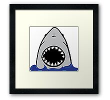 Shark attack. Framed Print