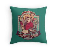 Harley's Puddin' Pops - print Throw Pillow