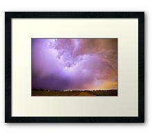 Thunderstorm Tidal Wave Framed Print