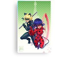 Miraculous Ladybug & Cat Noir Canvas Print