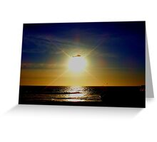 Chopping the Sunset! Greeting Card