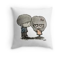 Cute Boy and Girl - LQ Throw Pillow