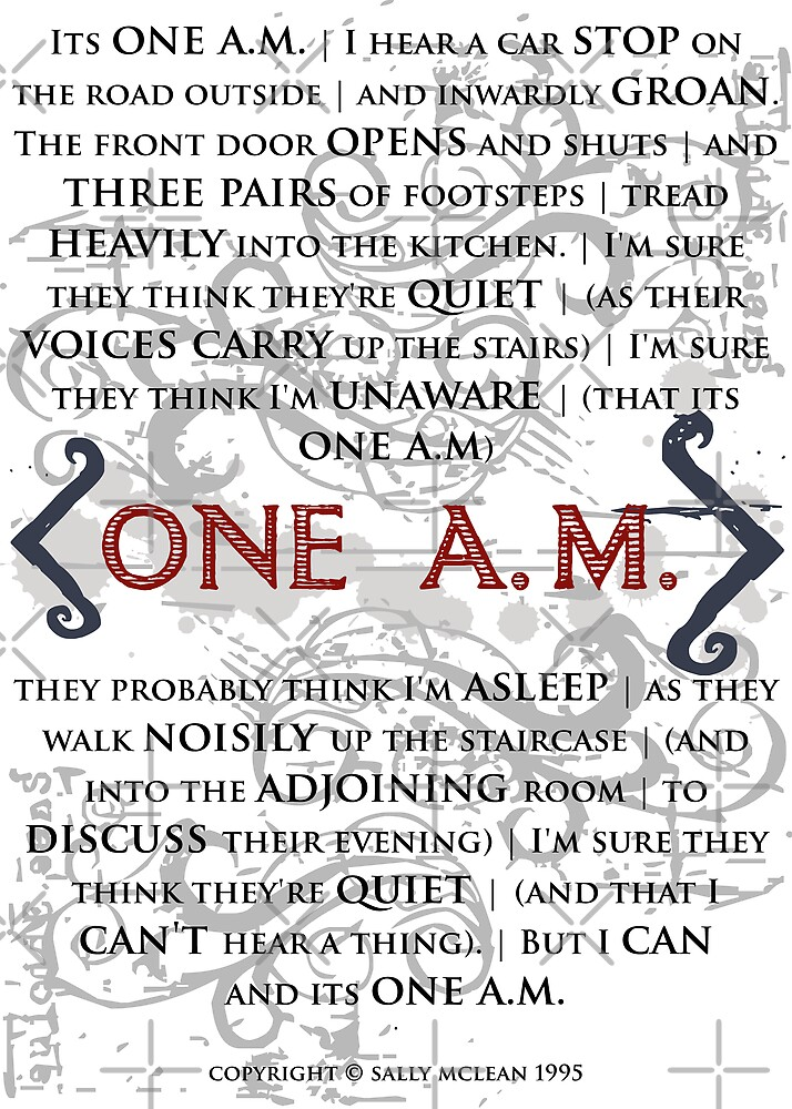 One A.M. by Sally McLean by Sally McLean