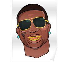 Gucci Mane Cartoon Poster