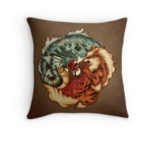 The Tiger and the Dragon - Print Throw Pillow