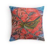 Green Warbler Throw Pillow