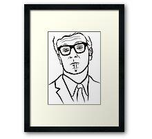 Actor face Framed Print