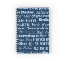 Doctor Who Text Spiral Notebook