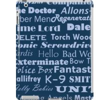 Doctor Who Text iPad Case/Skin