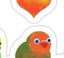 Small birds love Sticker