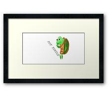 POT turtle Framed Print