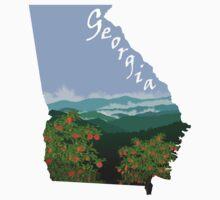 Georgia: Peaches_Blue Ridge Mountains One Piece - Short Sleeve