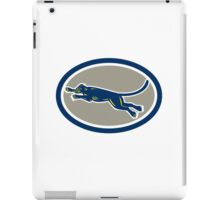 Black Panther Leaping Oval retro iPad Case/Skin