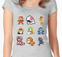 8 bit Women's Fitted Scoop T-Shirt